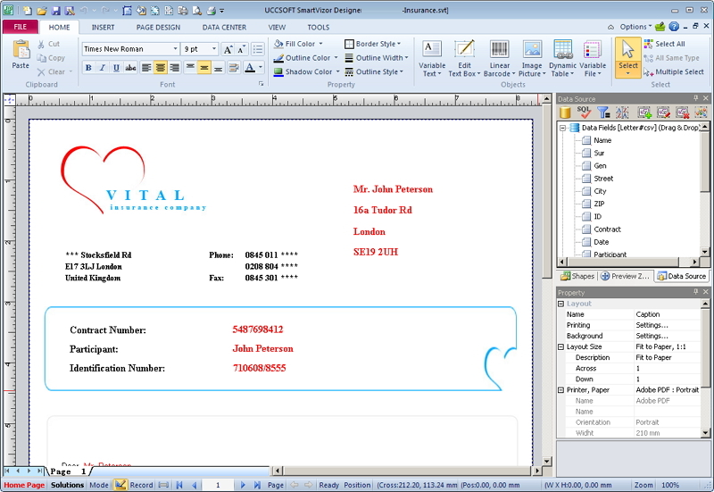 Click to view SmartVizor Variable Data Printing Tool 14.1.110.7011 screenshot